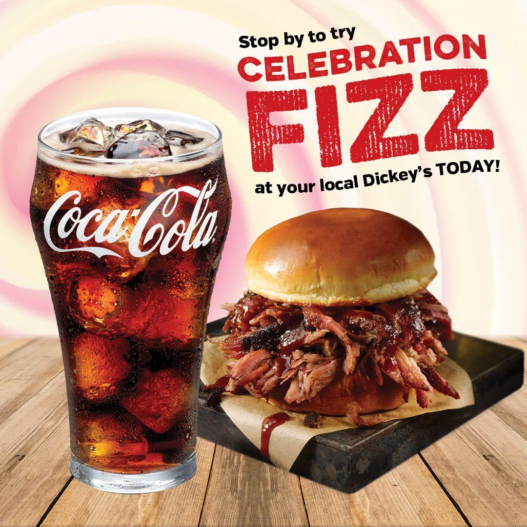 Dickey's Barbecue Pit Gets a Special 80th Coca-Cola Flavor, Celebration Fizz
