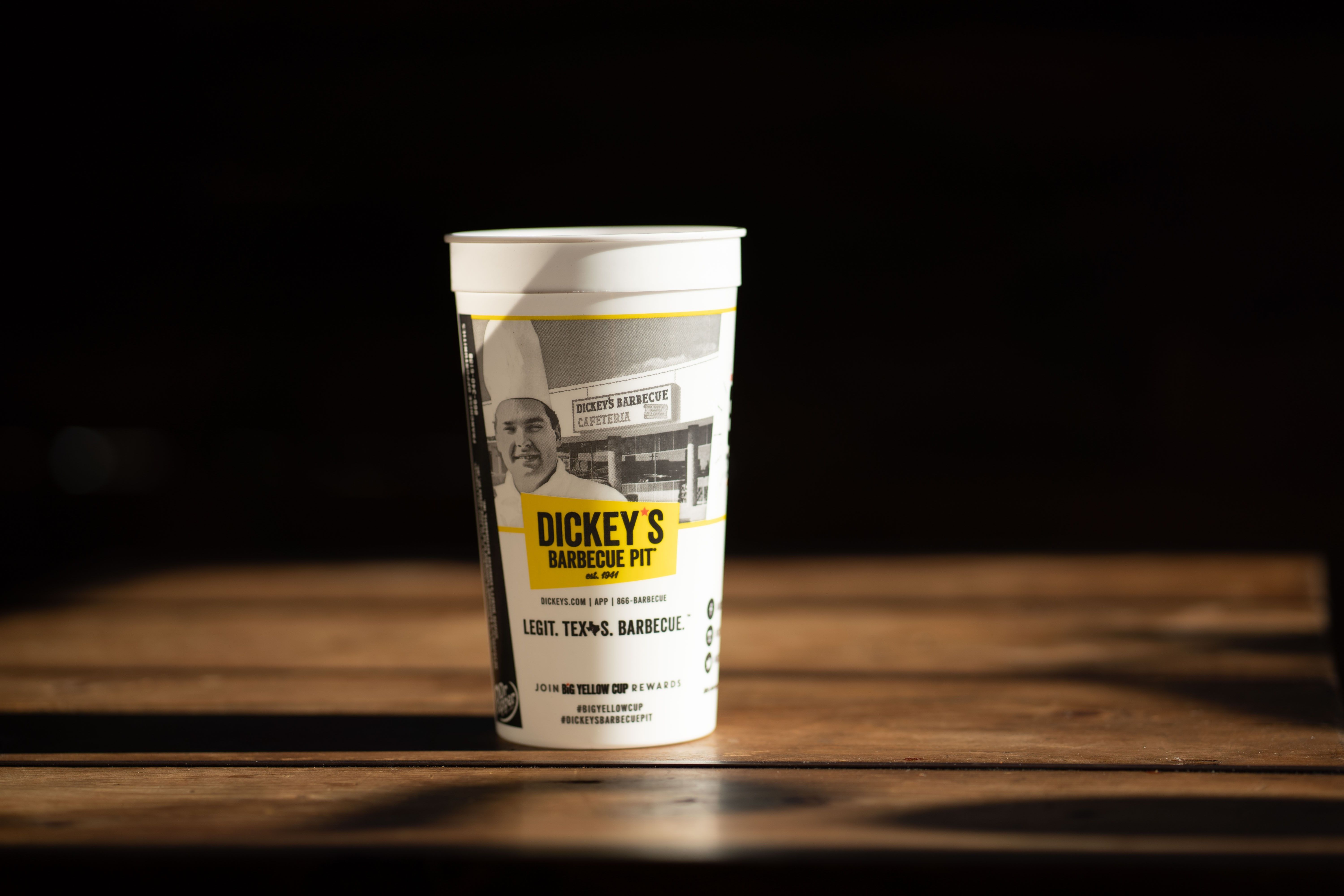 Dickey's Black and White Tribute Cup